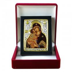 Icône de la Mère de Dieu peinte sur tissu
