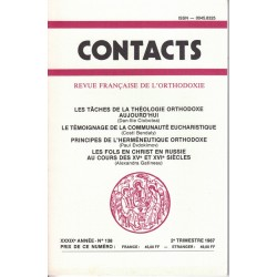Contacts n° 138. 2° trimestre 1987