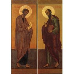 Carte reproduction d'icône. Saint Pierre et Saint Paul