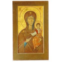 Carte icône de la Mère de Dieu (Vierge Hodighitria) - marron