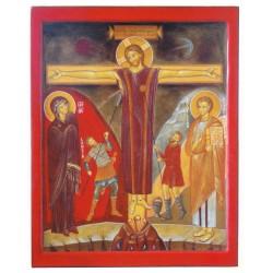 Carte reproduction icône de la Crucifixion