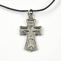 Croix gravée Christ et Mère de Dieu