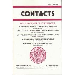 Contacts n° 151. 3° trimestre 1990