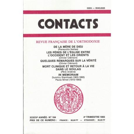 Contacts n° 164. 4° trimestre 1993