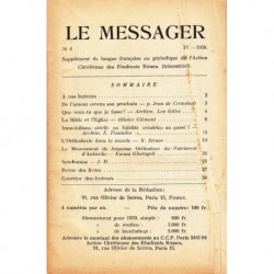 Le messager orthodoxe n° 4 Année 1958