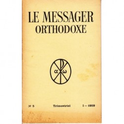 Le messager orthodoxe n° 5 Année 1959