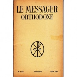 Le messager orthodoxe n° 15 Année 1961