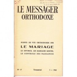 Le messager orthodoxe n° 17 Année 1962