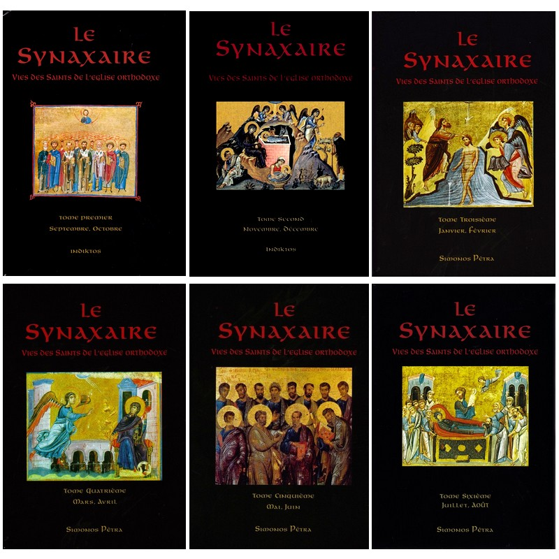 Collection des 6 tomes du Synaxaire