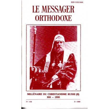 Le messager orthodoxe n° 108 Année 1988