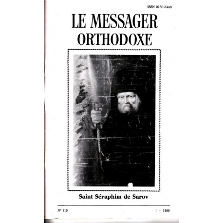 Le messager orthodoxe n° 110 Année 1989