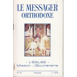 Le messager orthodoxe n° 78 Année 1978