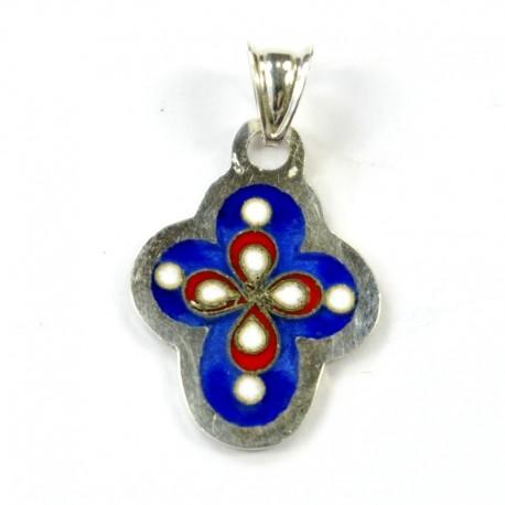 Croix de Géorgie en argent émaillée