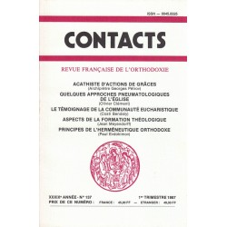 Contacts n° 137. 1° trimestre 1987