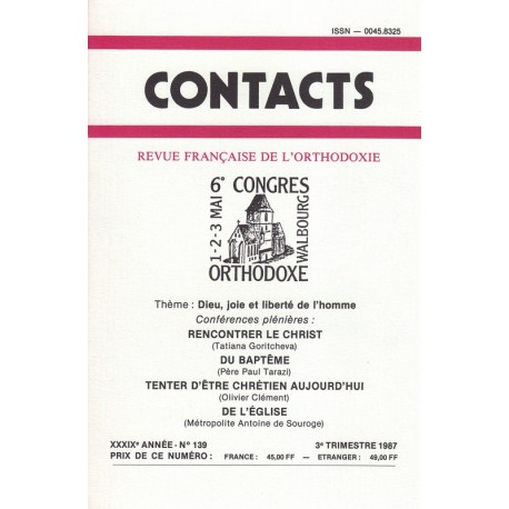 Contacts n° 139