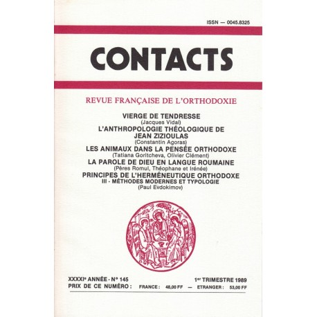 Contacts n° 145