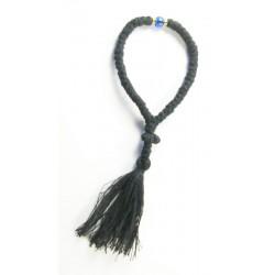 Chapelet orthodoxe 50 grains en laine avec un grain bleu