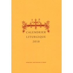 Calendrier liturgique orthodoxe 2018