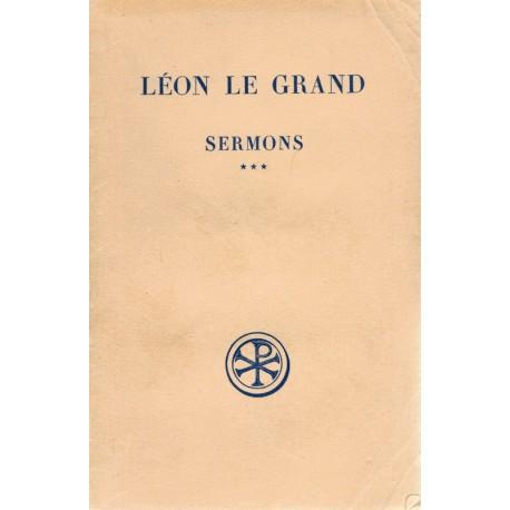 Sermons Tome 3 - Léon le Grand