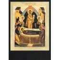 Reproduction icône de Léonide Ouspensky. Dormition de la Mère de Dieu