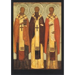 Reproduction icône de Léonide Ouspensky. Les Trois Saints Hiérarques