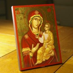 Icône de la Mère de Dieu 13.5 cm x 17.5 cm