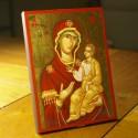 Icône de la Mère de Dieu Hodigitria 13.5 cm x 17.5 cm