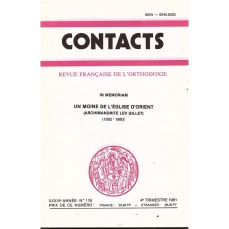 Contacts n° 116 - 4° trimestre 1981