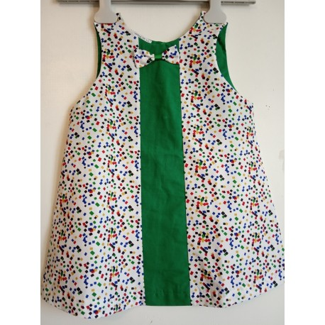 Robe chasuble Confettis - 3 - 4 ans