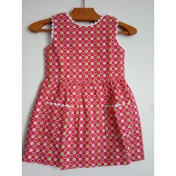 Robe Petits coeurs avec poches - 2 ans