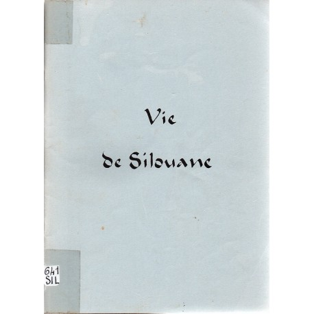 Vie de Silouane