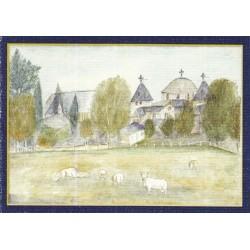 Carte de Noël. Le Monastère