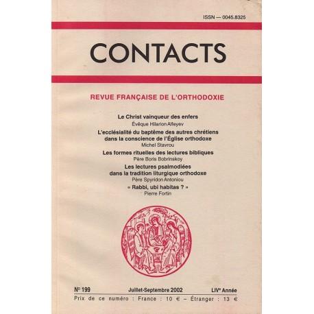 Contacts n° 199. 3° trimestre 2002