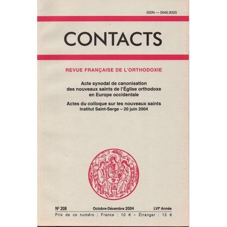 Contacts n° 208. 4° trimestre 2004
