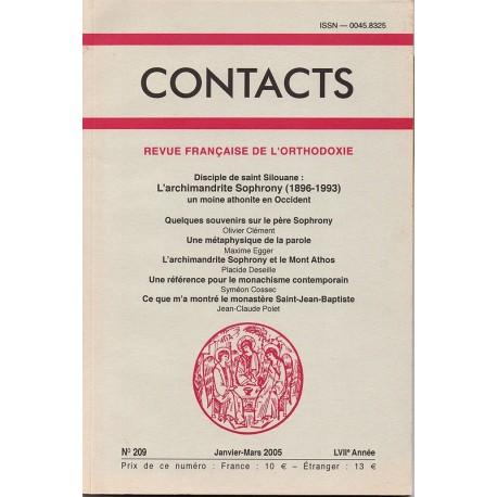 Contacts n° 209. 1° trimestre 2005