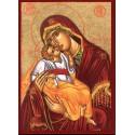 Icône de la Mère de Dieu Gliko 13 cm x 17.5 cm