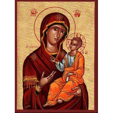 Icône de la Mère de Dieu Odiguitria 9.5 cm x 13 cm