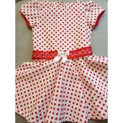 Robe à Pois rouge - 3 - 4 ans
