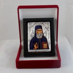 Icône de Saint Nectaire d'Egine peinte sur tissu