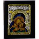 Icône de la Mère de Dieu bleu