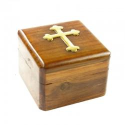 Coffret en bois petite taille forme carrée