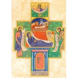 Carte de Noël. En forme de croix petit modèle