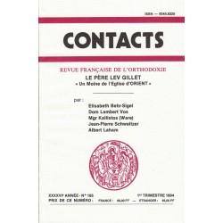 Contacts n° 165. 1° trimestre 1994