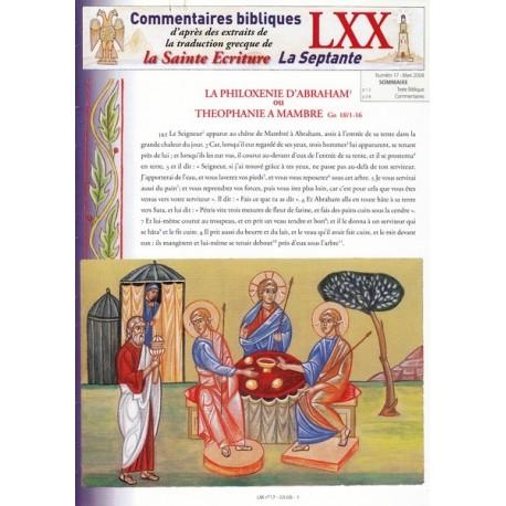 La philoxénie d'Abraham ou Théophanie à Mambré. Gn 18/1-16