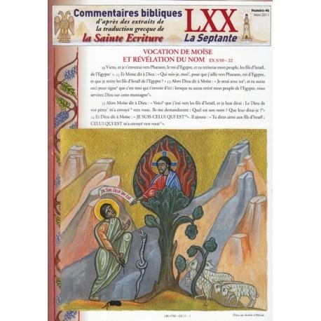 Vocation de Moïse et révélation du Nom. Ex 3/10-22