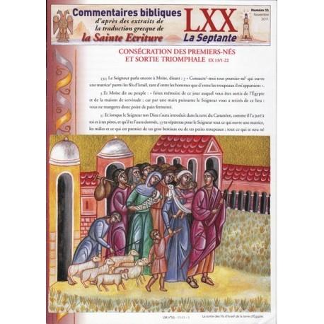 Consécration des premiers-nés et sortie triomphale. Ex 13/1-22