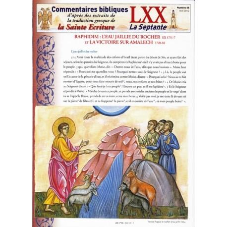 Raphidim : l'eau jaillie du rocher et la victoire sur Amalech. Ex 17/8-16
