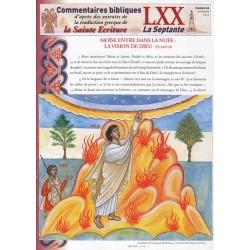 Moïse entre dans la nuée : la vision de Dieu. Ex 24/9-18