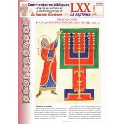Prescriptions : Pour la construction du sanctuaire. Ex 25/1-40