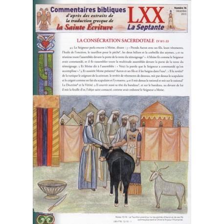 La consécration sacerdotale. Lv 8/1-33